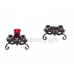Wrought Iron Desktop Candle Holder